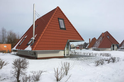 Haus Falsterbo im Schnee
